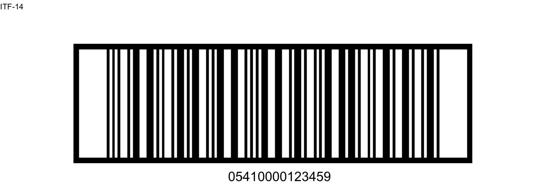ITF 14 Barcode symbool
